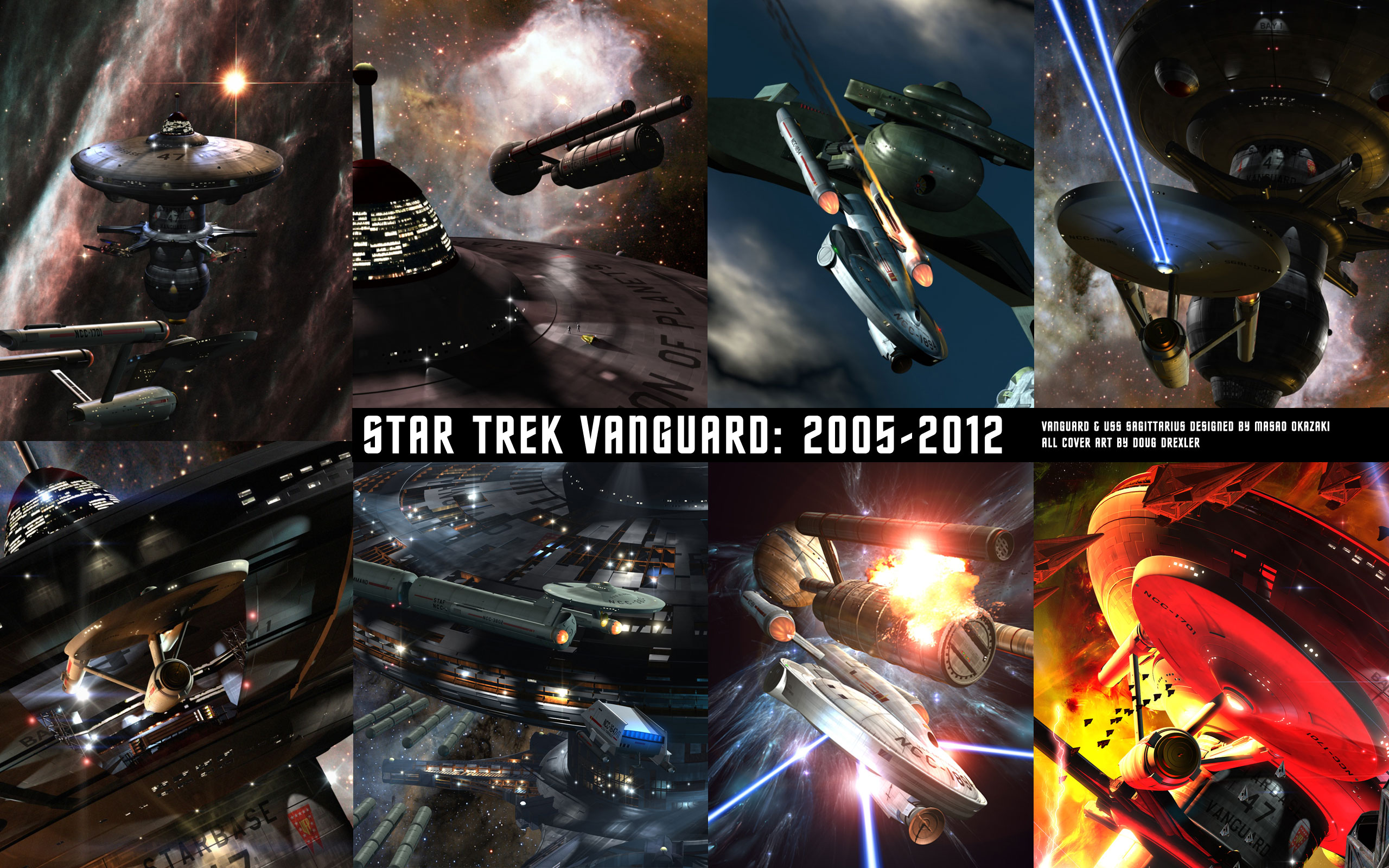 A Wallpaper Image of the Star Trek Vanguard cover art.